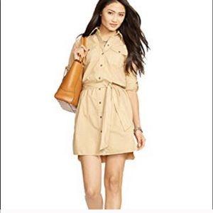 •Ralph Lauren• Denim Beige Shirt Dress